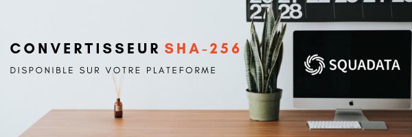 Convertisseur SHA-256 Squadata