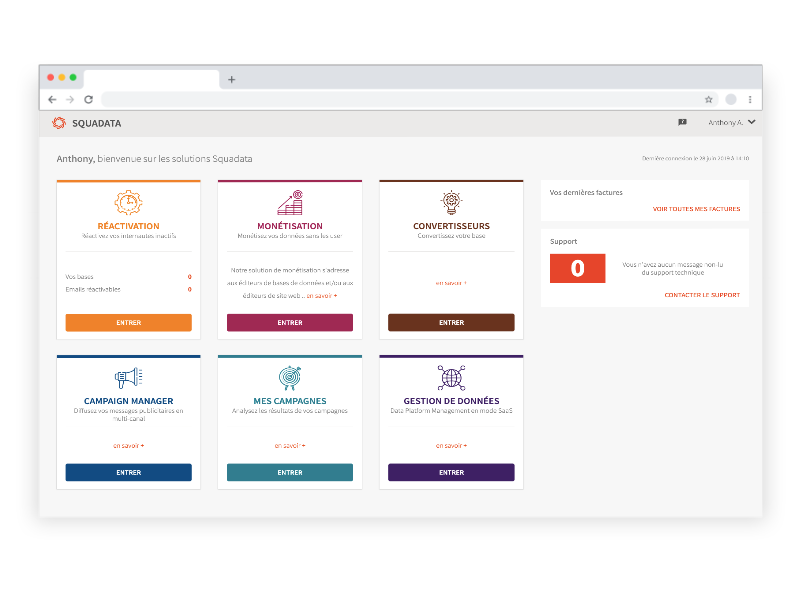 plateforme crm on boarding