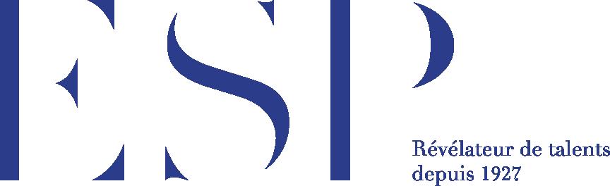 Logo école supérieur de publicité bleu sans fond